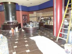 Commercial Flooring and Counters In Progress